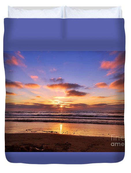 Duvet Cover featuring the photograph Reflecting by Rima Biswas