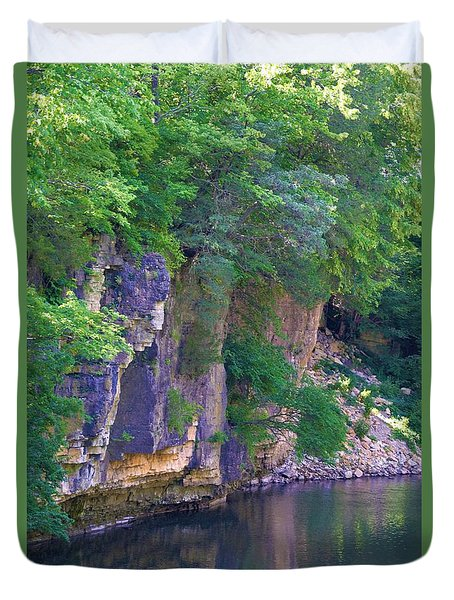 Reflecting Rock Creek Duvet Cover