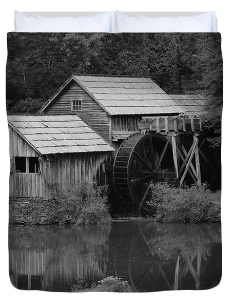 Reflecting The Mill Duvet Cover by Eric Liller