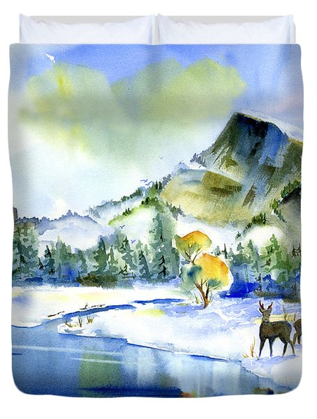 Reflecting Yosemite Duvet Cover