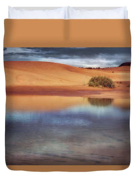 Reflection - 1 - Coral Pink Sand Dunes - Utah Duvet Cover