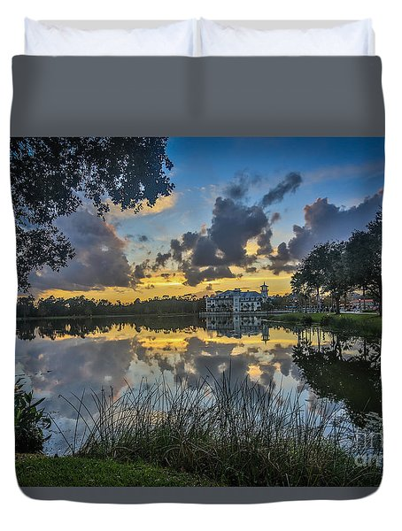 Reflection 5 Duvet Cover by Mina Isaac