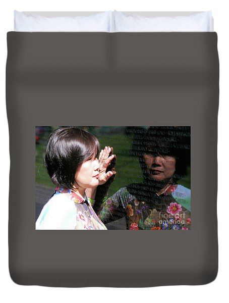 Reflection At The Wall Pt.2 Duvet Cover