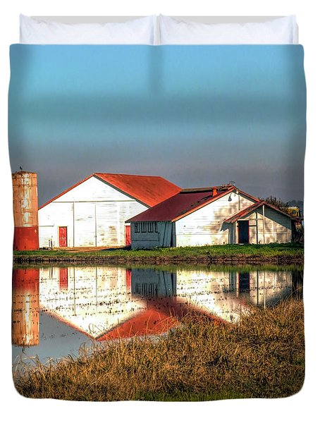 Reflection Barn  Duvet Cover