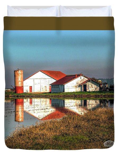 Reflection Barn  Duvet Cover