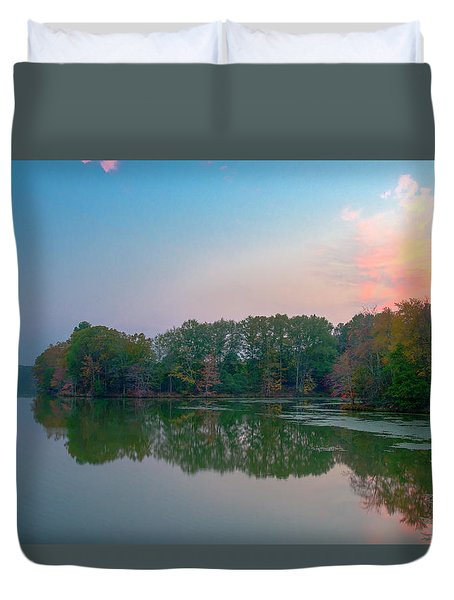 Duvet Cover featuring the photograph Reflection II by David Waldrop