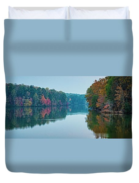 Duvet Cover featuring the photograph Reflection IIi by David Waldrop