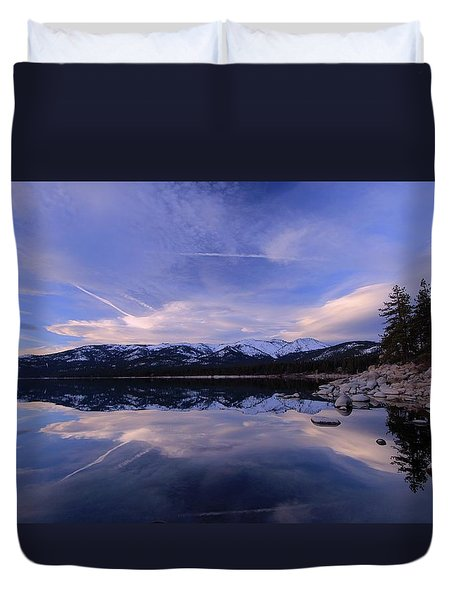 Reflection In Winter Duvet Cover