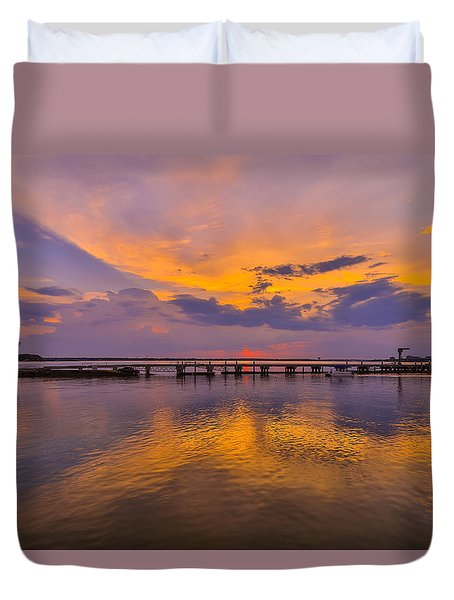 Reflection - James Island Sc Duvet Cover