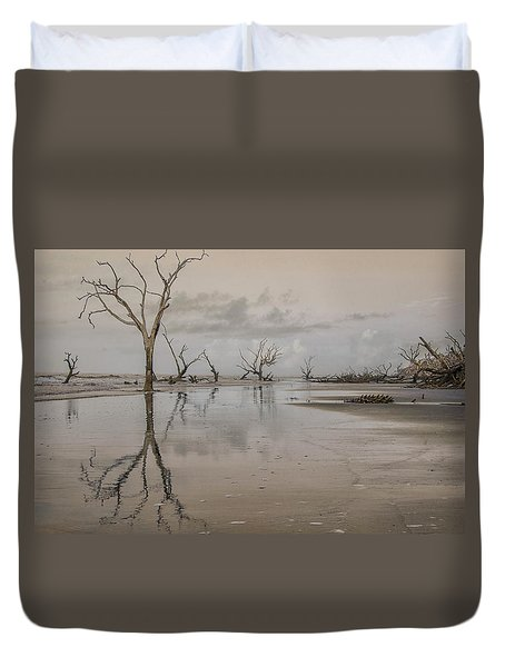 Reflection Of A Dead Tree Duvet Cover