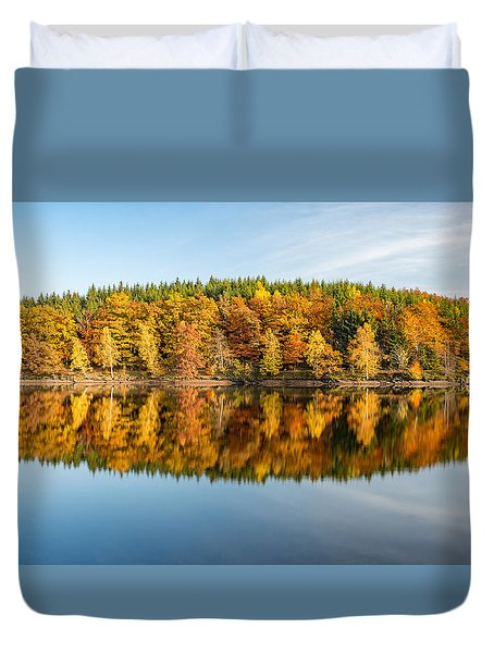 Reflection Of Autumn Duvet Cover by Andreas Levi