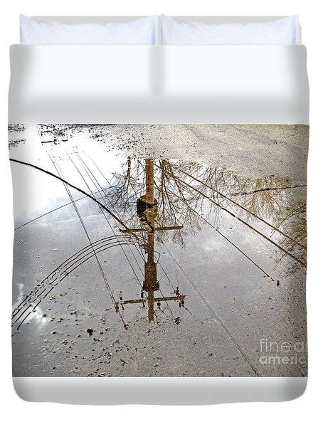 Puddle Reflections  Duvet Cover by Sandra Church