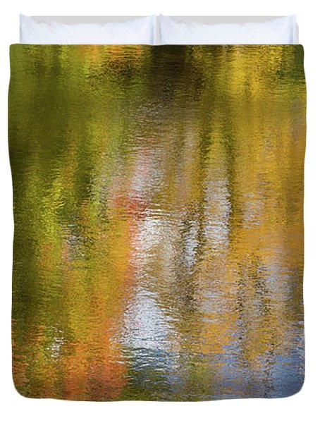 Reflection Of Fall #1, Abstract Duvet Cover