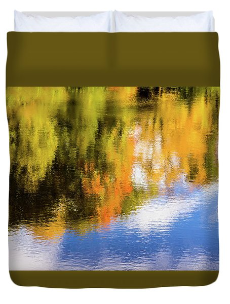 Reflection Of Fall #2, Abstract Duvet Cover