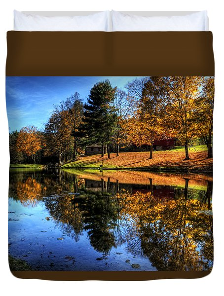 Reflection Of Northeast Ohio Fall Duvet Cover