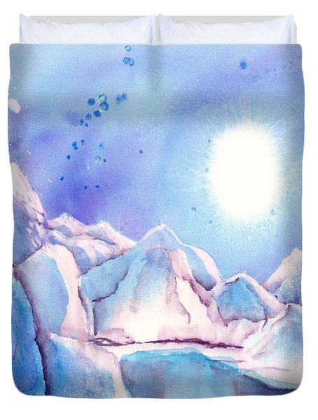 Winter - Reflection Of The Moon Duvet Cover