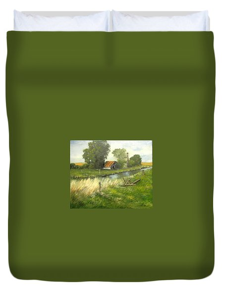 Reflection Of The Past  Duvet Cover
