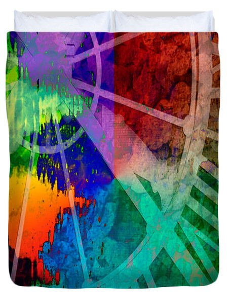 Reflection Of Time Duvet Cover by Brian Roscorla