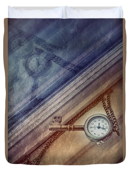 Reflection Of Time Duvet Cover