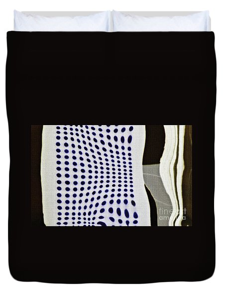 Duvet Cover featuring the photograph Reflection On 42nd Street 2 Negative by Sarah Loft