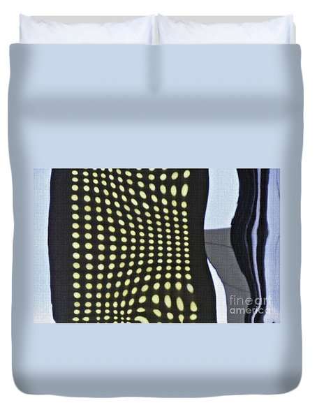 Duvet Cover featuring the photograph Reflection On 42nd Street 2 by Sarah Loft