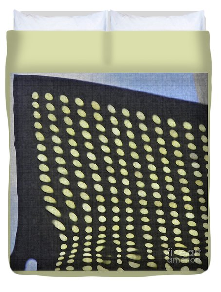 Duvet Cover featuring the photograph Reflection On 42nd Street 3 by Sarah Loft