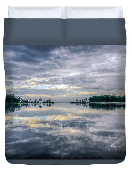 Duvet Cover featuring the photograph Reflection by Rob Sellers