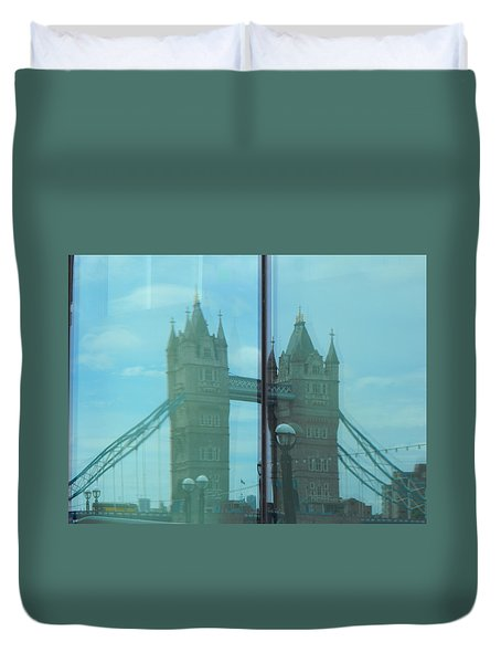 Reflection Tower Bridge Duvet Cover
