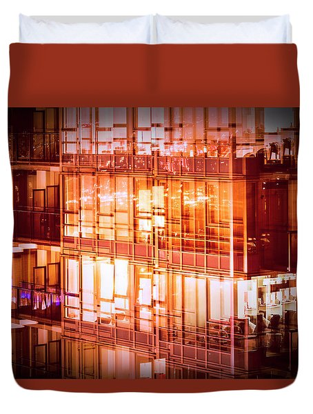 Reflectionary Phase Duvet Cover by Amyn Nasser