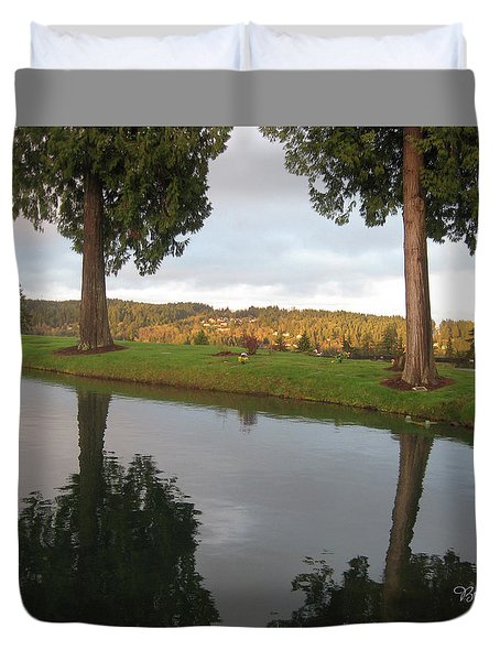 Reflections #183 Duvet Cover by Barbara Tristan
