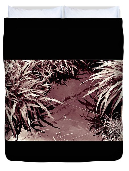 Duvet Cover featuring the photograph Reflections 2 by Mukta Gupta