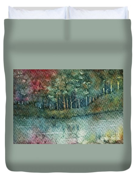 Reflections Along The Water Duvet Cover