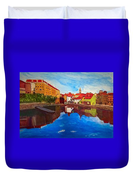 Czech Reflections Duvet Cover