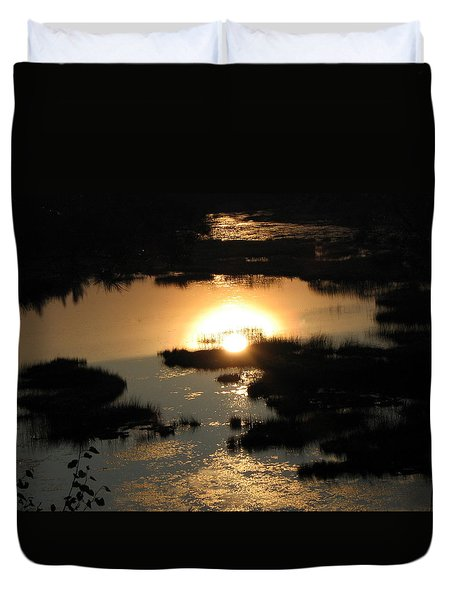 Reflections At Sunset Duvet Cover