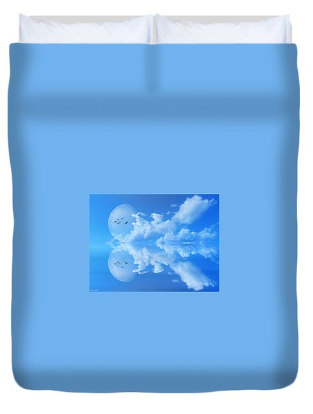 Duvet Cover featuring the photograph Reflections by Bernd Hau