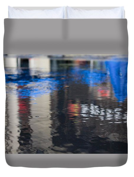 Duvet Cover featuring the photograph Reflections by Break The Silhouette