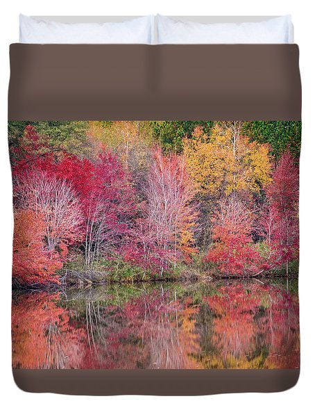 Duvet Cover featuring the photograph Reflections by David Waldrop
