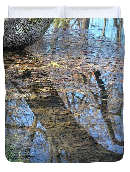 Duvet Cover featuring the photograph Reflections I by Ron Cline