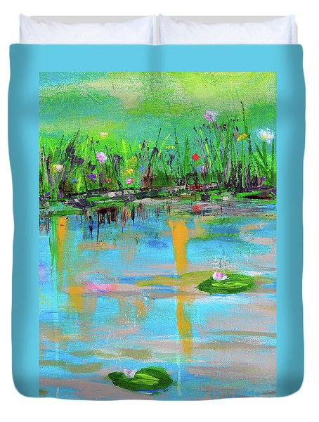 Reflections In Spring Duvet Cover