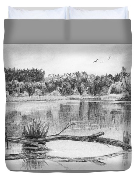Reflections In The Water Duvet Cover by Nolan Clark