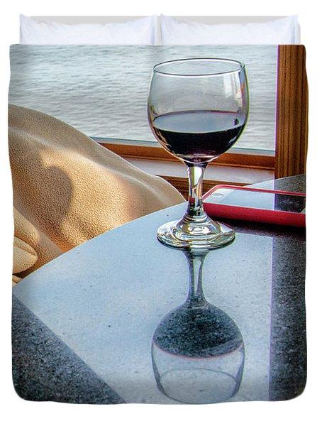 Reflections Lake Superior.... Duvet Cover
