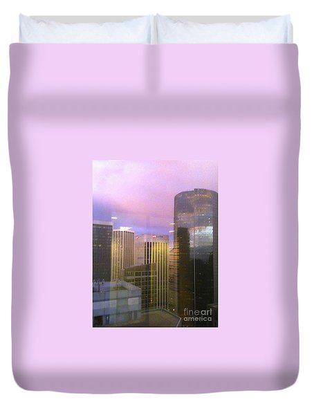 Reflections Looking East Duvet Cover