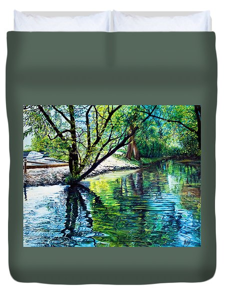 Trees Reflections Duvet Cover