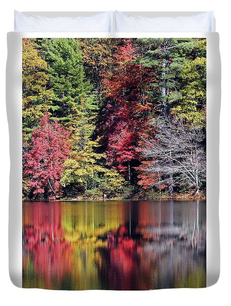 Reflections Of A Bare Tree Duvet Cover