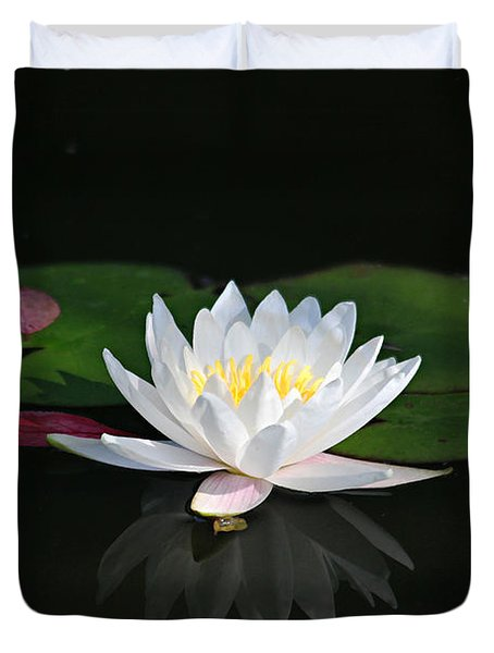 Reflections Of A Water Lily Duvet Cover
