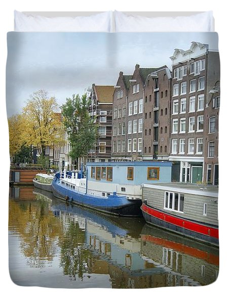 Reflections Of Amsterdam Duvet Cover