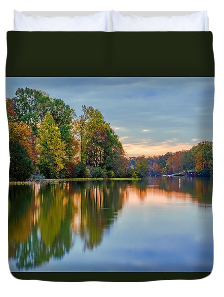 Reflections Of Autumn Duvet Cover