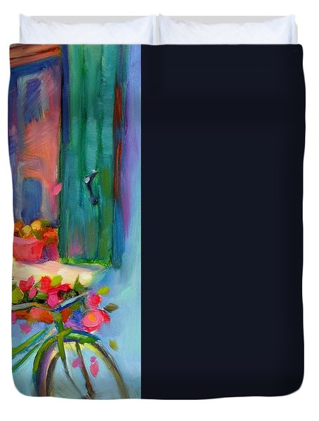 Reflections Of Burano Duvet Cover by Chris Brandley