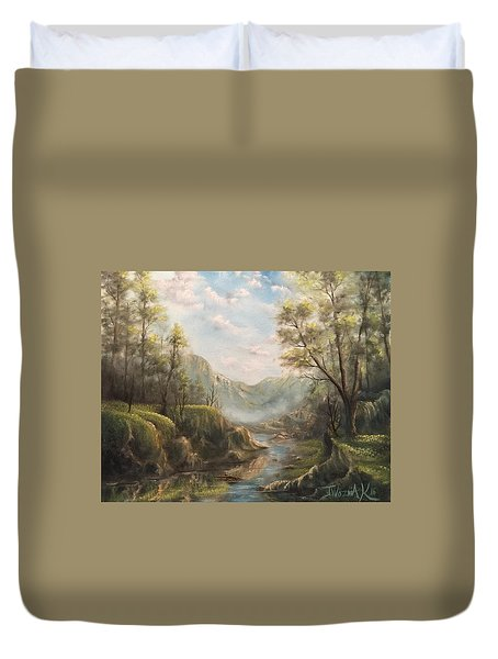 Reflections Of Calm  Duvet Cover