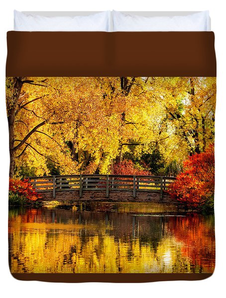 Reflections Of Fall Duvet Cover